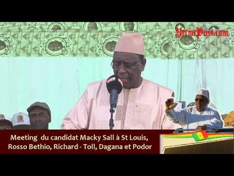 Vidéo: Discours du candidat Macky Sall à son meeting de Podor