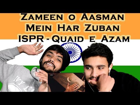 Indian react on Zameen o Aasman Mein Har Zuban | ISPR Tribute to Quaid e Azam  | Swaggy d