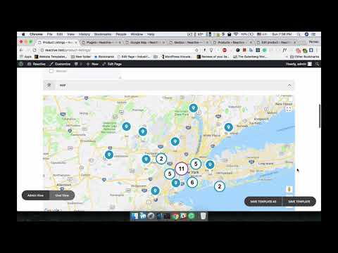 Reactive Geo Map Configuration