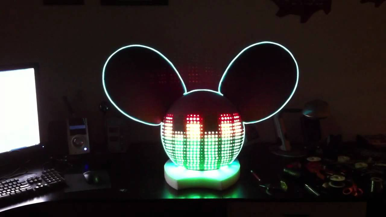 deadmau5 led head replica youtube - Deadmau5 Halloween Head