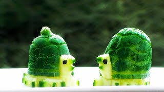 Super Salad Decoration Ideas - Cucumber Carving Decoration
