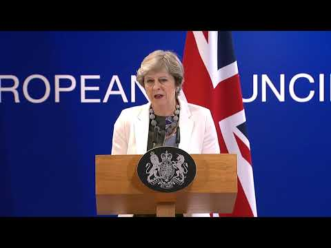 Theresa May discusses Brexit negotiations following European Council summit