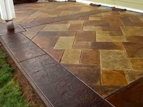 Delightful Amazingly Real Stamped And Acid Stained Concrete Patio   YouTube