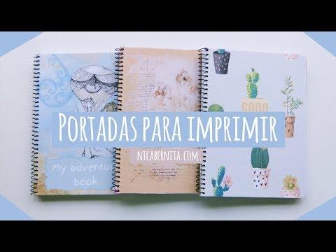 Truco Para Forrar Cuadernos Portadas Para Imprimir Nica