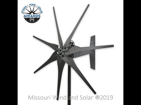 Wind Turbine Freedom PMG test one 12 volt 7 Raptor Generation 4™ blades
