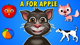 A for Apple Nursery Rhymes | 3D Rhymes for Children | Abc Songs for Kids | Tom Cat ABC Rhymes