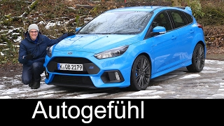 Ford Focus RS FULL REVIEW Autobahn high speed test driven 350 hp Nitrous Blue 2017/2018