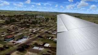 DC-3 Justflight landing at ORBX Bathurst Australia (FSX)