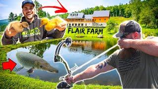 CRASHING FLAIR's FARM (Bow-Fishing GIANT GAR)