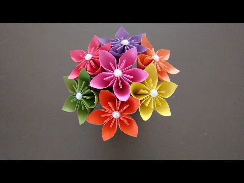 Как сделать БУКЕТ цветов из бумаги I Цветы ОРИГАМИ I Origami Flower