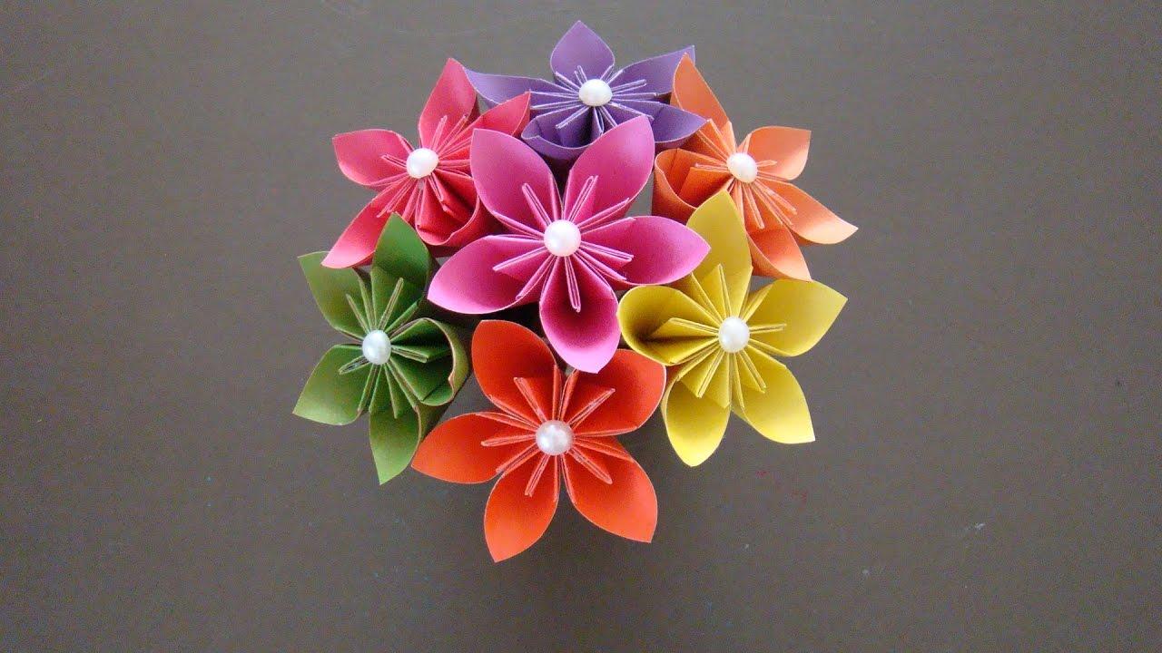 Букет цветов из бумажных цветов своими руками фото 641