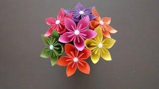 как сделать букет цветов из бумаги своими руками оригами