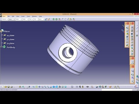 Catia Tutorial\ How to create Radial Engine Assembly\ Piston Part_2