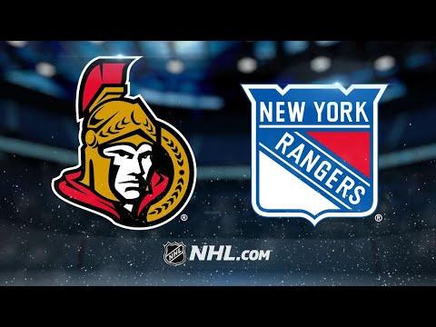 Lundqvist, Rangers shut out Senators, 3-0