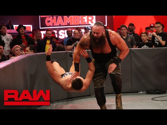 Braun Strowman vs. The Miz - Seven-Man Gauntlet Match Part 6: Raw, Feb. 19, 2018