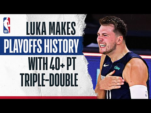 Luka Doncic Is First Player In #NBAPlayoffs HISTORY With 43 PTS, 17 REB, 13 AST or better In Game!