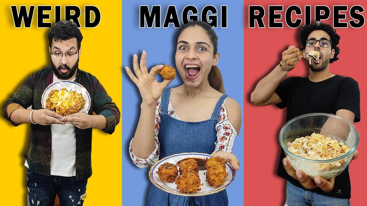 We Tried The WEIRDEST Maggi Recipies 😱 || BINOD Ki Favourite Maggi Ho Sakti Hai Ye 😂