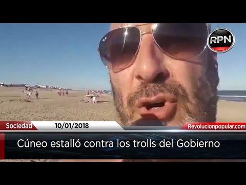 Santiago Cúneo insultó a los trolls del Gobierno