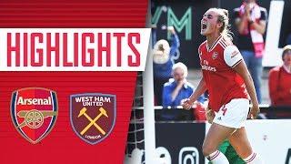 HIGHLIGHTS | Arsenal Women 2-1 West Ham United | Women's Super League