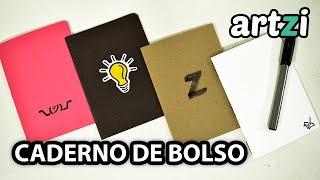 Caderno de Bolso :: 3 Tipos de Encadernação Fáceis