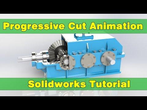 Progressive Cut Animation   Solidworks Tutorial