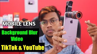 How To Make Background Blur Video On TikTok & YouTube || Mobile Lens Review