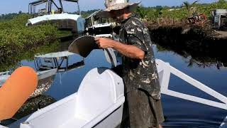 Ultralight Solar Speedboat 025 Roofs and Motors Started