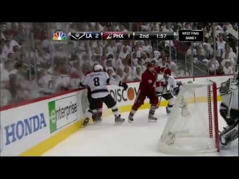 Mikkel Boedker goal. Los Angeles Kings vs Phoenix Coyotes Game 1 5/13/12 NHL Hockey