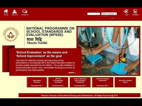 Instructions on How to use Shaala Siddhi Web Portal - Naveen Bhatia (NUEPA)