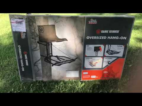 Game Winner Oversized Hang On Tree Stand - Initial Thoughts