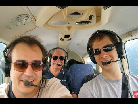 Holiday Flight 2016, Part 1, with live ATC (English and German) Switzerland, Austria, Czech Republic