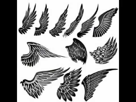 angel wings tattoo design youtube. Black Bedroom Furniture Sets. Home Design Ideas