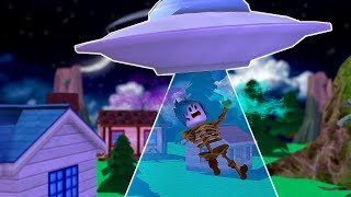 UFO VERSUS NOOB! WAS SHE ABDUCTED? ROBLOX