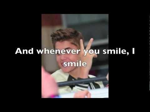 U Smile Justin Bieber Lyrics (Acoustic Version)