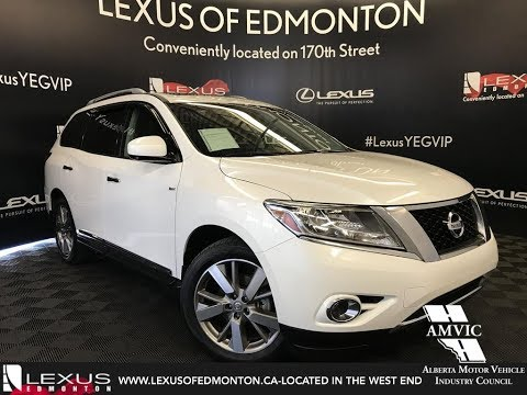 Used White 2014 Nissan Pathfinder Platinum Review Airdrie Alberta