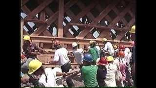 Covered Bridge: 400 Timber Framers Build A Bridge In Guelph, Ont.