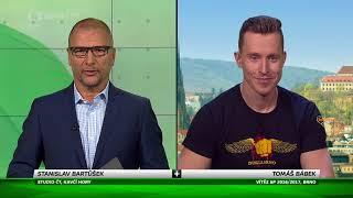 Tomáš Bábek - LIVE studio rozhovor BRNO PRAHA - ČT SPORT - Sportovní zprávy 2.10.2017