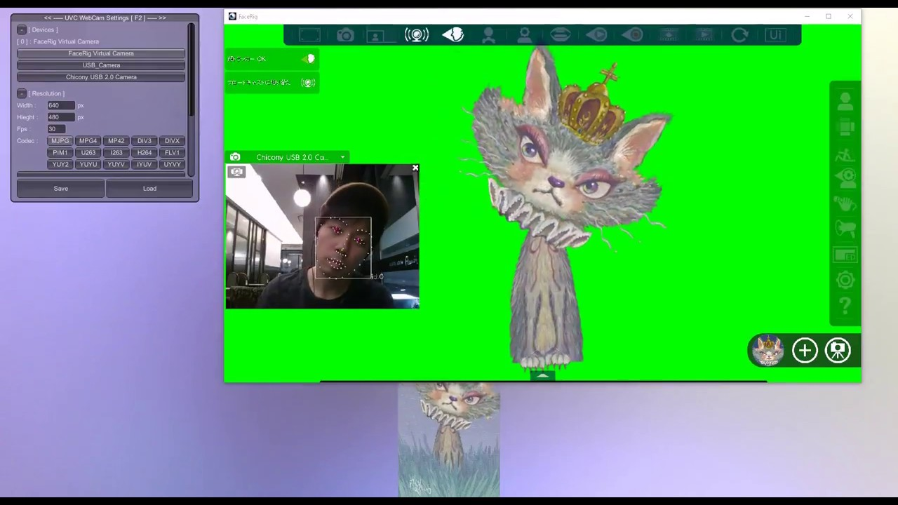 Live2D & FaceRig with Unity