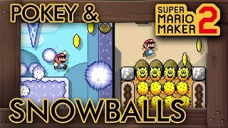 Super Mario Maker 2 - A Pokey & Snowballs Speedrun Level