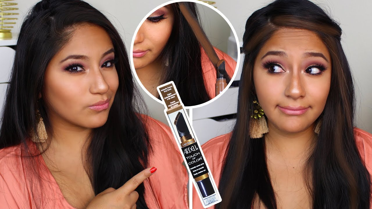 Does Ardell Touch Of Color Work On Dark Hair Youtube
