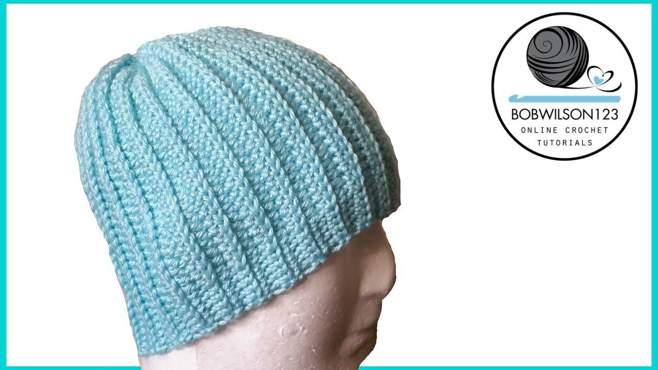 Crochet knit look hat tutorial EASY - YouTube 806a31bcc25