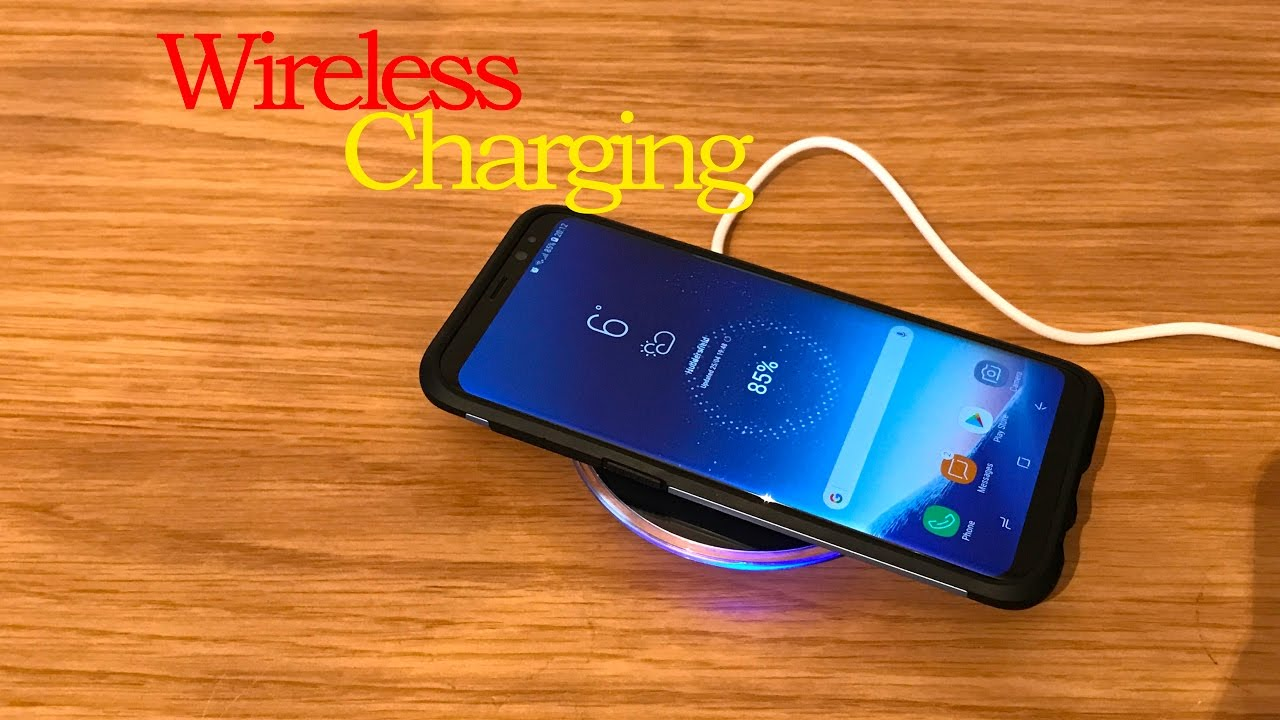 samsung galaxy s8 plus wireless charging youtube