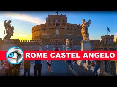 Rome Castel Sant Angelo & Bridge of Angels 4K Travel Video