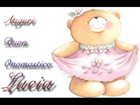 Top Auguri Buon Onomastico Lucia - YouTube FF23