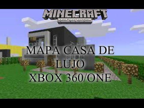 Minecraft xbox 360 one mapa descargable casa de lujo youtube for Minecraft casas de lujo