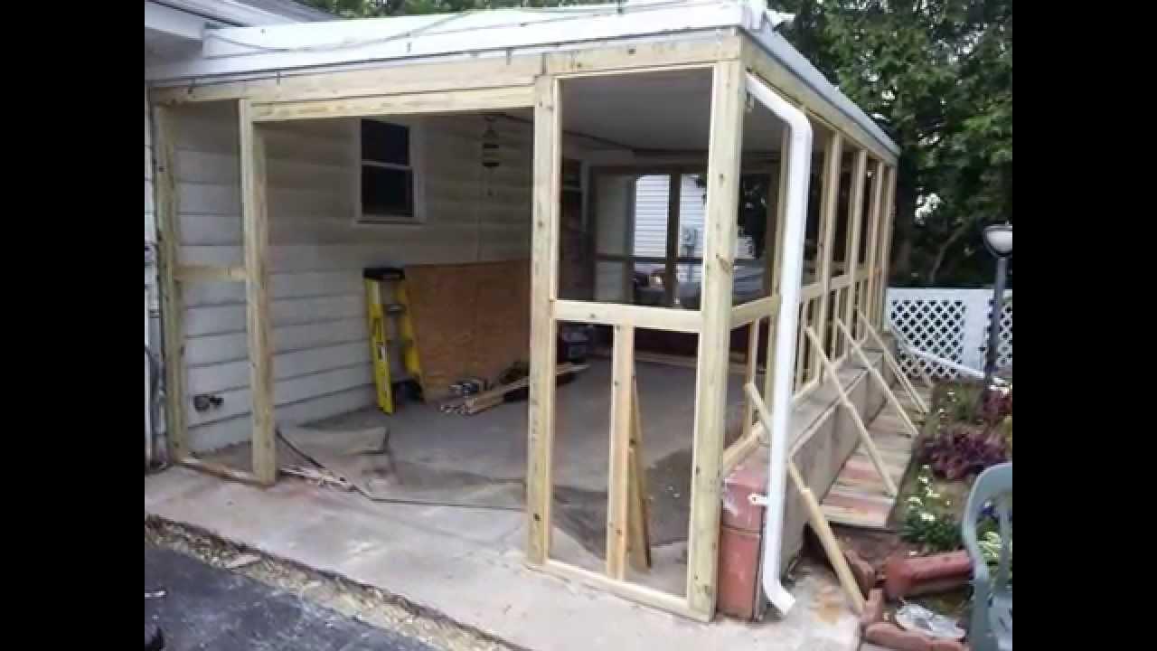 Screen House Construction Ideas YouTube