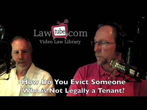 How to Evict a friend or family member who is not technically a tenant
