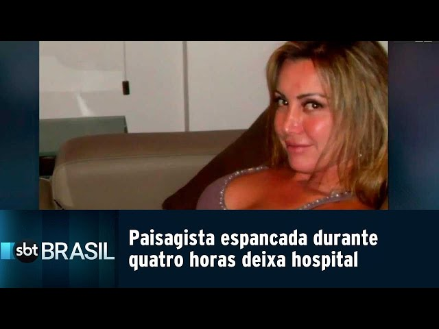 Paisagista espancada durante quatro horas deixa hospital   SBT Brasil (22/02/19)