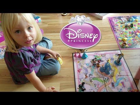 Disney Princess Games 👑💜 Chutes & Ladders + Candy Land 💜👑