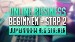 Online Business Beginnen Stap 2: Domeinnaam Registreren